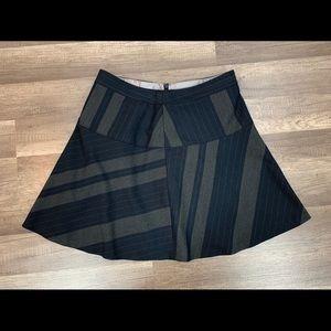 Banana Republic Black Skater Mini Skirt Size 8 Med